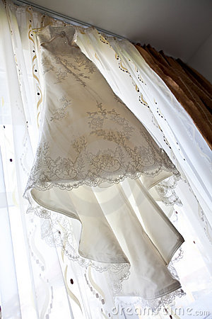 Elegant long wedding dress
