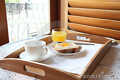 Elegant luxury breakfast