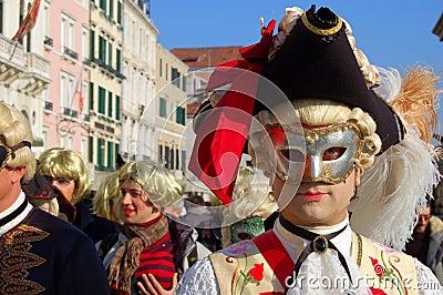An elegant man s mask Editorial Photo