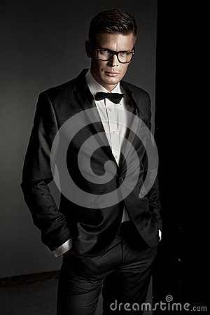 Free Elegant Man Wearing Suit Royalty Free Stock Images - 25440339