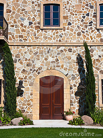 Elegant Mansion Doorway in Napa Valley