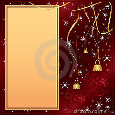 Elegant Merry Christmas red card