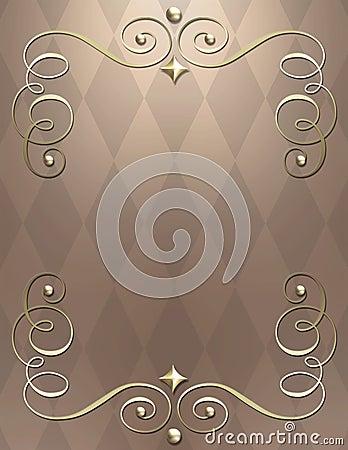 Elegant metallic swirl bkgrnd