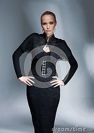 Elegant Model In Black