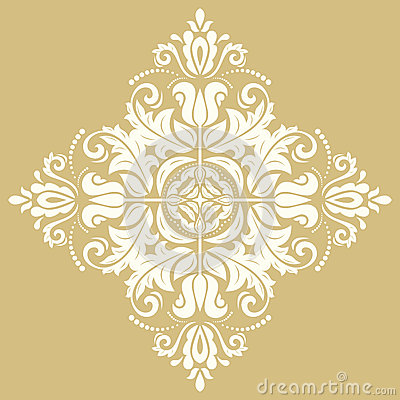 Elegant Ornament in the Style of Barogue Stock Photo