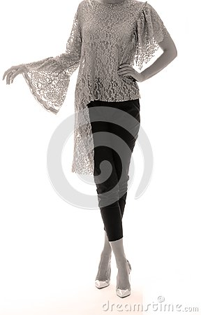 Free Elegant Outfit For Women, White Background Royalty Free Stock Photography - 106853137