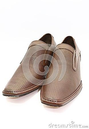 Elegant pair of brown shoes