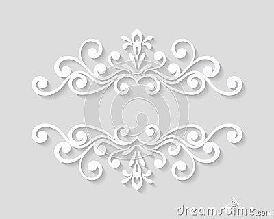 Elegant Paper Retro Floral Border Vector Image 67481080 – Paper Border Designs Templates
