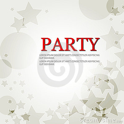 Elegant party background with stars