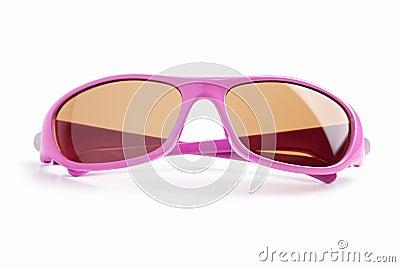 Elegant pink-rimmed glasses