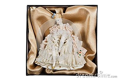 Elegant porcelain doll