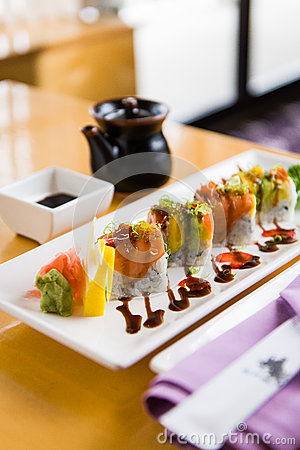 An Elegant Presentation of Sushi