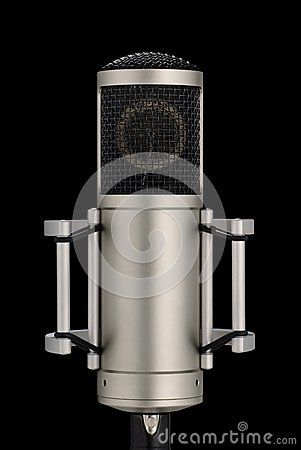 Elegant professional microphone on black