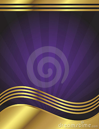 Elegant Purple And Gold Background Stock Photos Image
