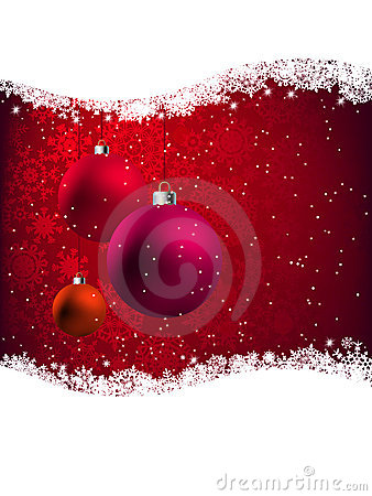 Elegant Red Christmas Card. EPS 8