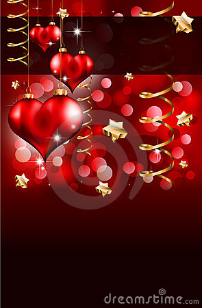 Elegant Red and Gold Valentine s Day Flayer