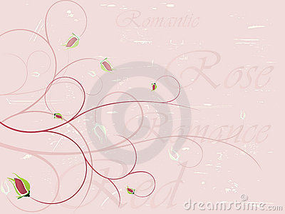 Elegant rose background