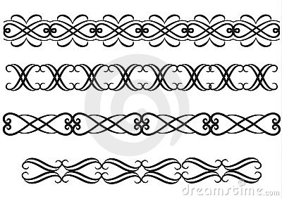 Elegant rule lines or borders