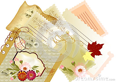 Elegant scrapbooking back with space for text