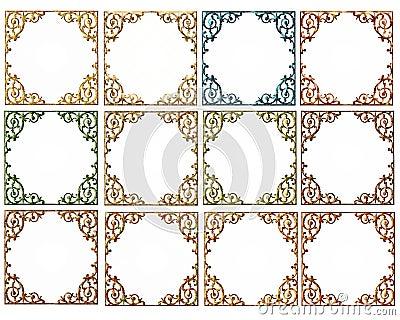 Elegant Scrolled Frames Fall Colors