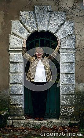 Elegant senior lady portrait