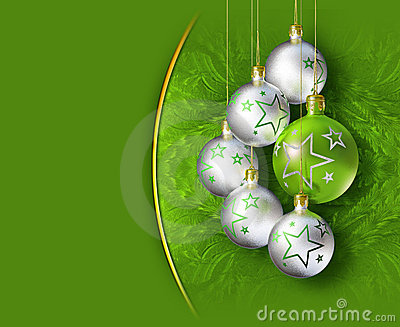 Elegant shiny christmas decoration.