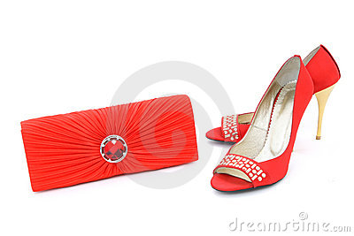 Elegant shoes and purse