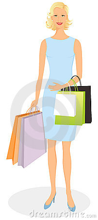 Elegant shopping girl