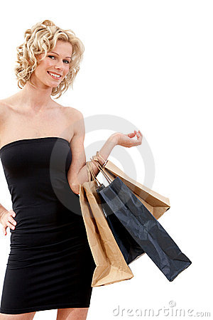 Elegant shopping woman
