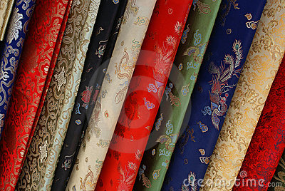 Elegant silk fabric