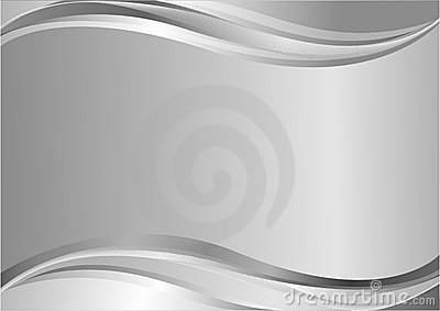 Elegant silver background with waves