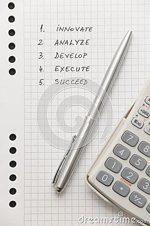 Elegant silver pen and scientific calculator