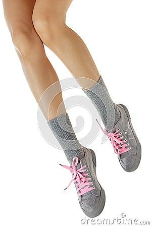 Elegant sport legs