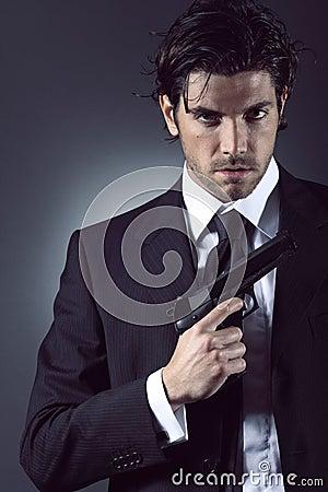 Free Elegant Spy Portrait Stock Images - 30830624