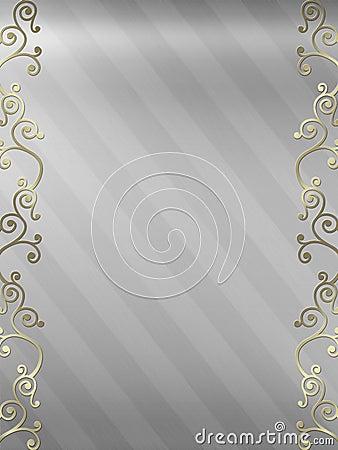 Elegant swirl design border