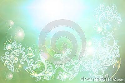 Elegant swirl shinny back