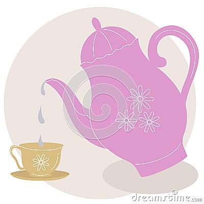 Elegant teapot set