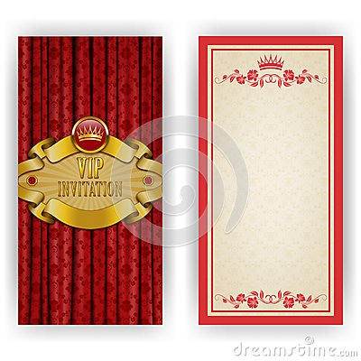 Elegant template for vip luxury invitation