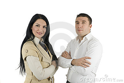 Elegant two business people