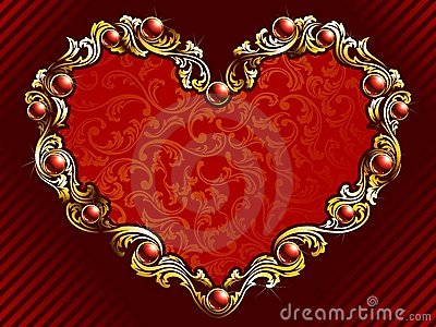 Elegant valentine background with rubies