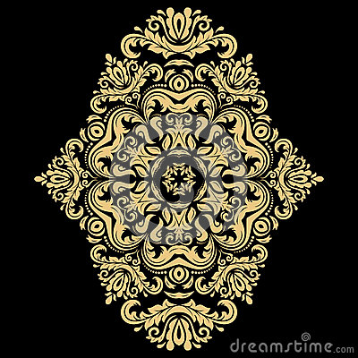 Elegant Vector Ornament in the Style of Barogue Vector Illustration