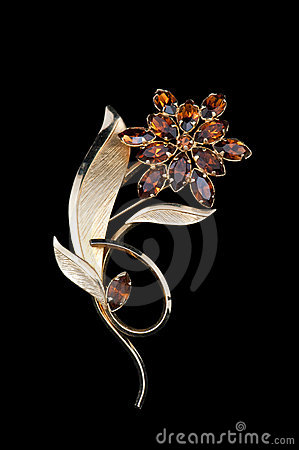 Elegant vintage flower brooch