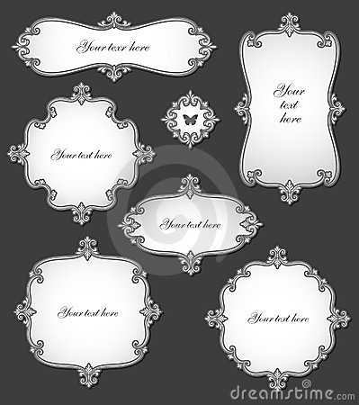Elegant vintage labels