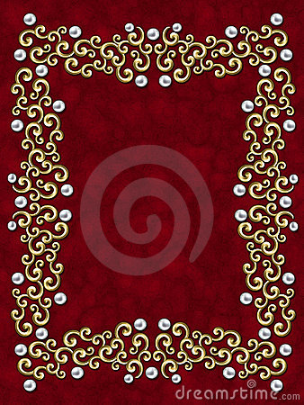 Elegant vintage Swirl Frame