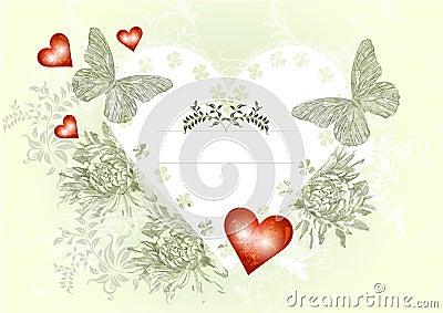 Elegant vintage  valentine card
