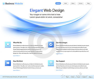 Elegant web site design template