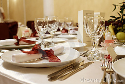Elegant wedding party table