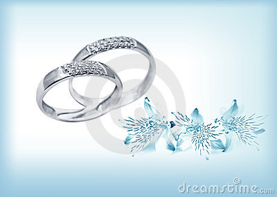 Elegant wedding rings with brilliants