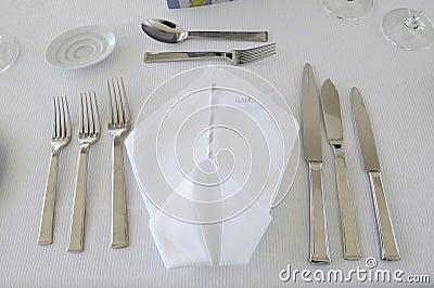 Elegant White Folded Serviette