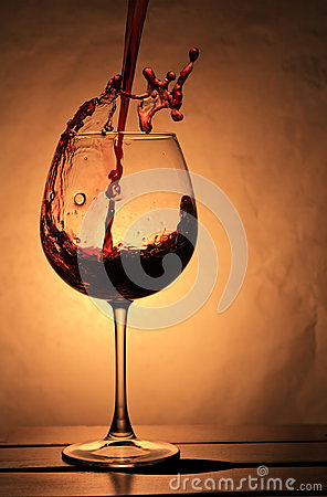 Elegant  wineglass